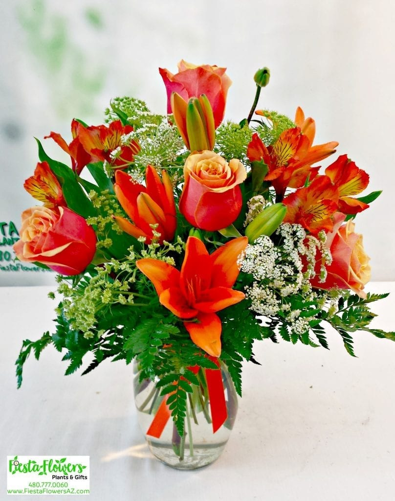 Same Day Delivery Orange Spectacular Bouquet V 1075