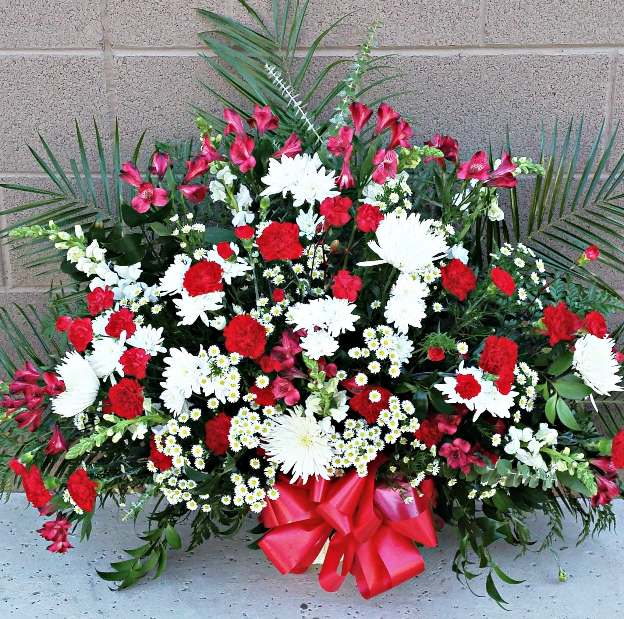 Red and White Memory Basket FB-514
