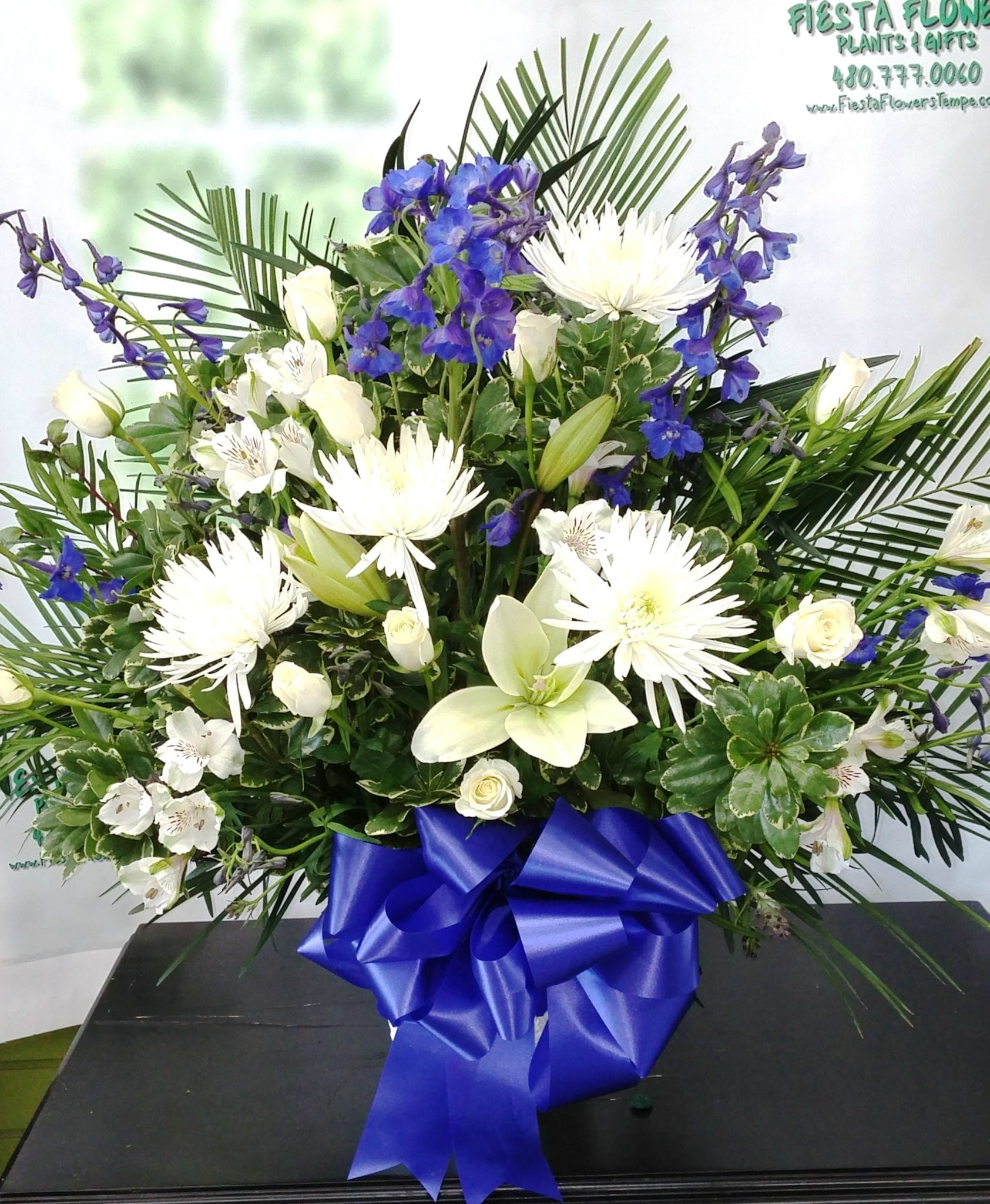 SAME DAY DELIVERY Blue and White Tribute