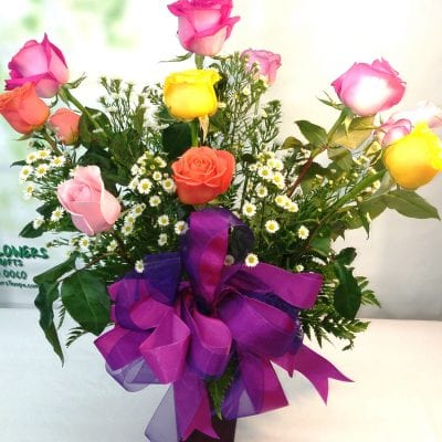 SAME DAY DELIVERY Celebrate in Color Roses