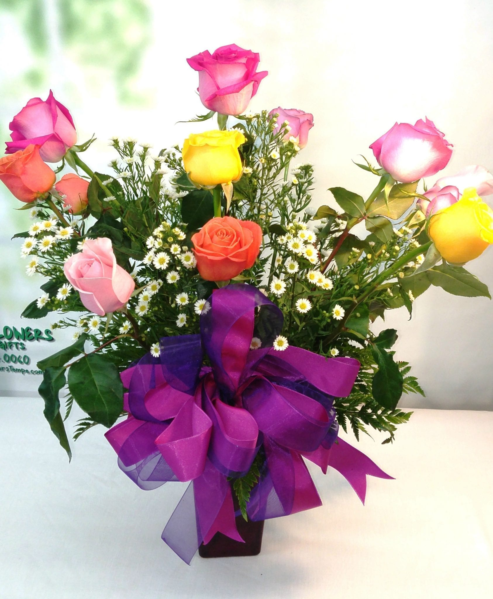 SAME DAY DELIVERY Celebrate in Color Roses R 1735 Fiesta Flowers Plants &am