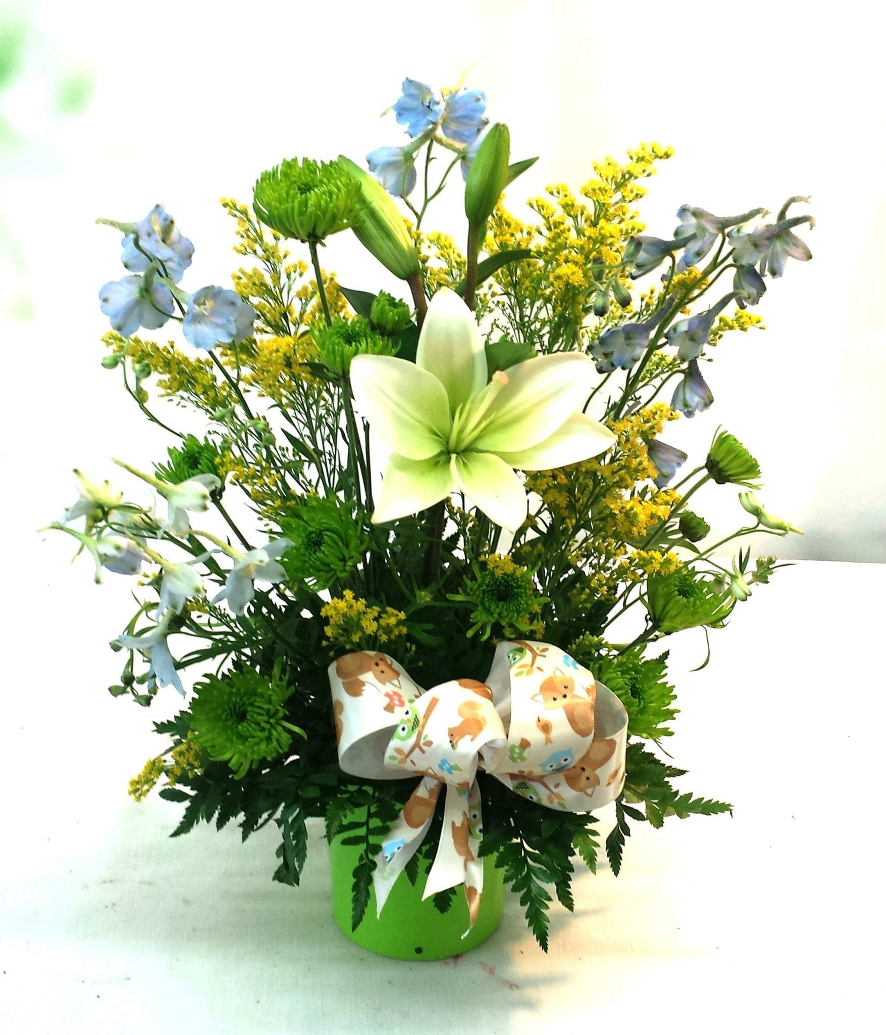 SAME DAY DELIVERY Cheerful Baby Boy - Fiesta Flowers Plants & Gifts