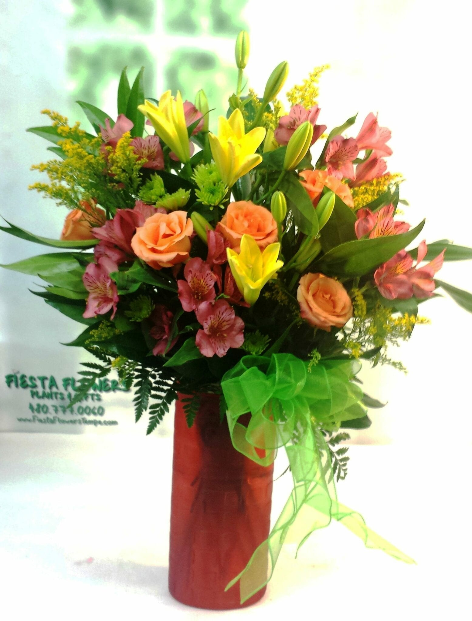 SAME DAY DELIVERY Yellow and White Lemon Mojito Fiesta Flowers Plants &
