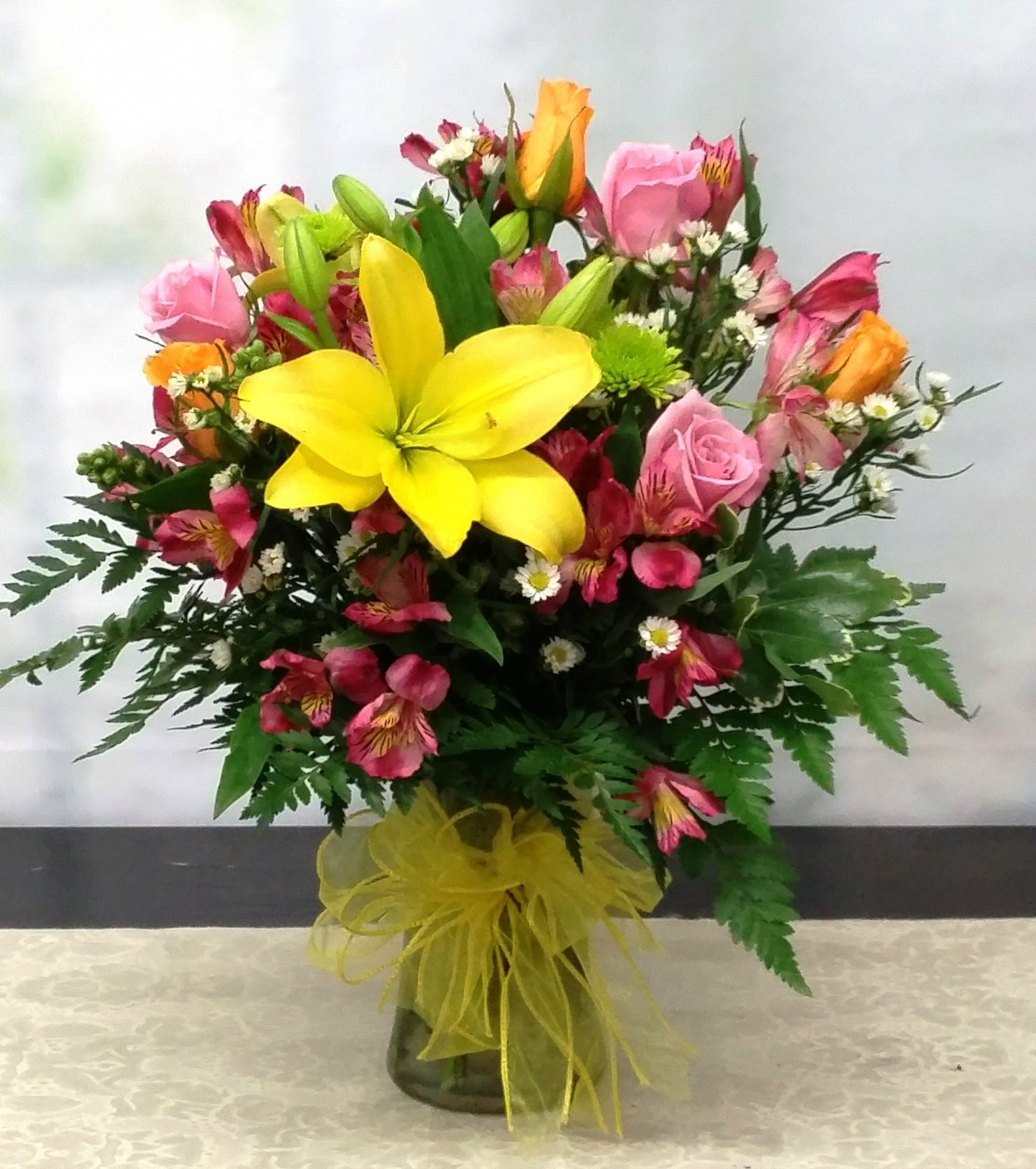 Same Day Delivery Cheerful Simplicity Bouquet Fiesta