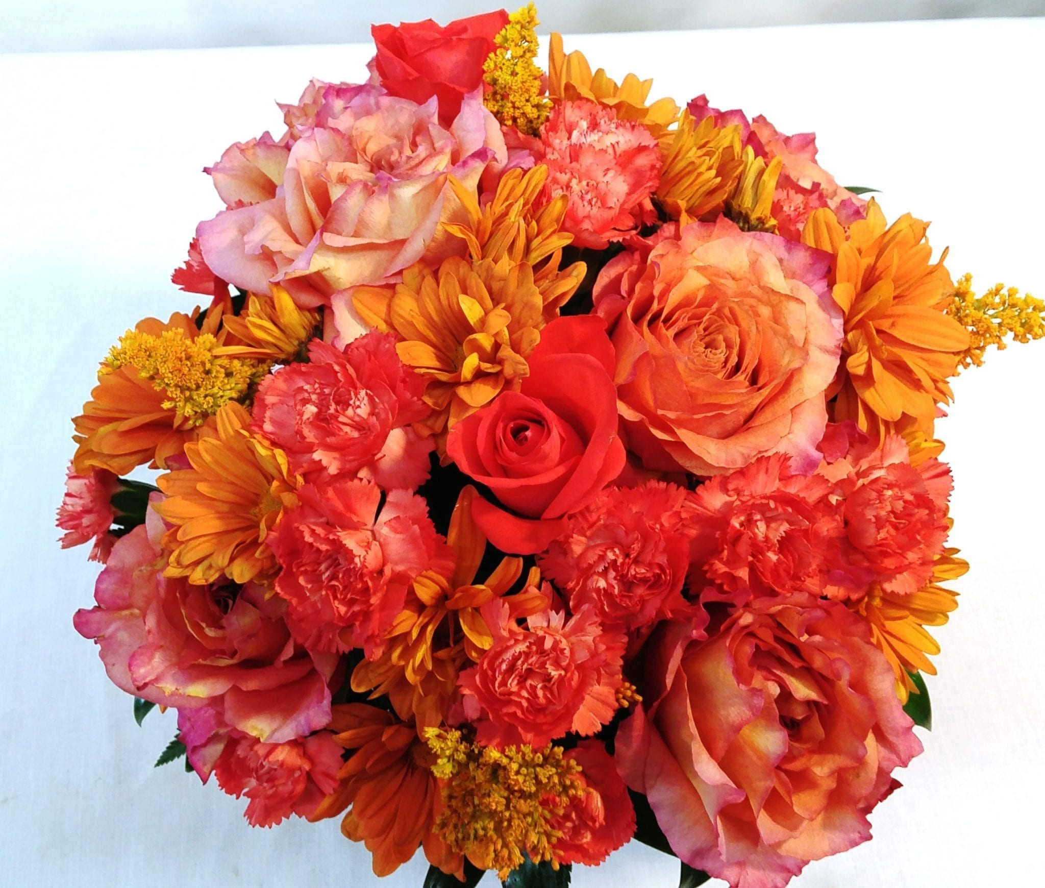 SAME DAY DELIVERY Colors of Love-Orange Cube - Fiesta Flowers Plants ...