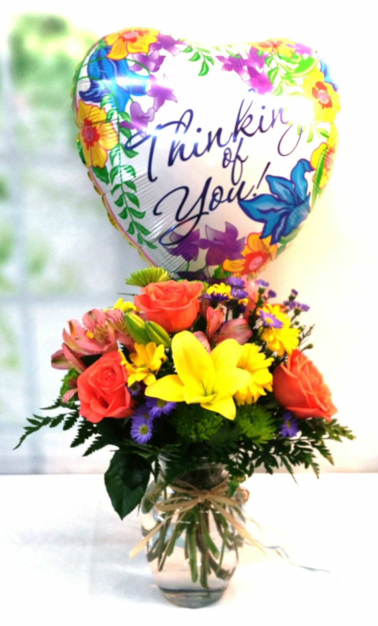 Bright and cheery flowers same day delivery - Same Day Delivery Thinking Of You Premium Bundle Fiesta