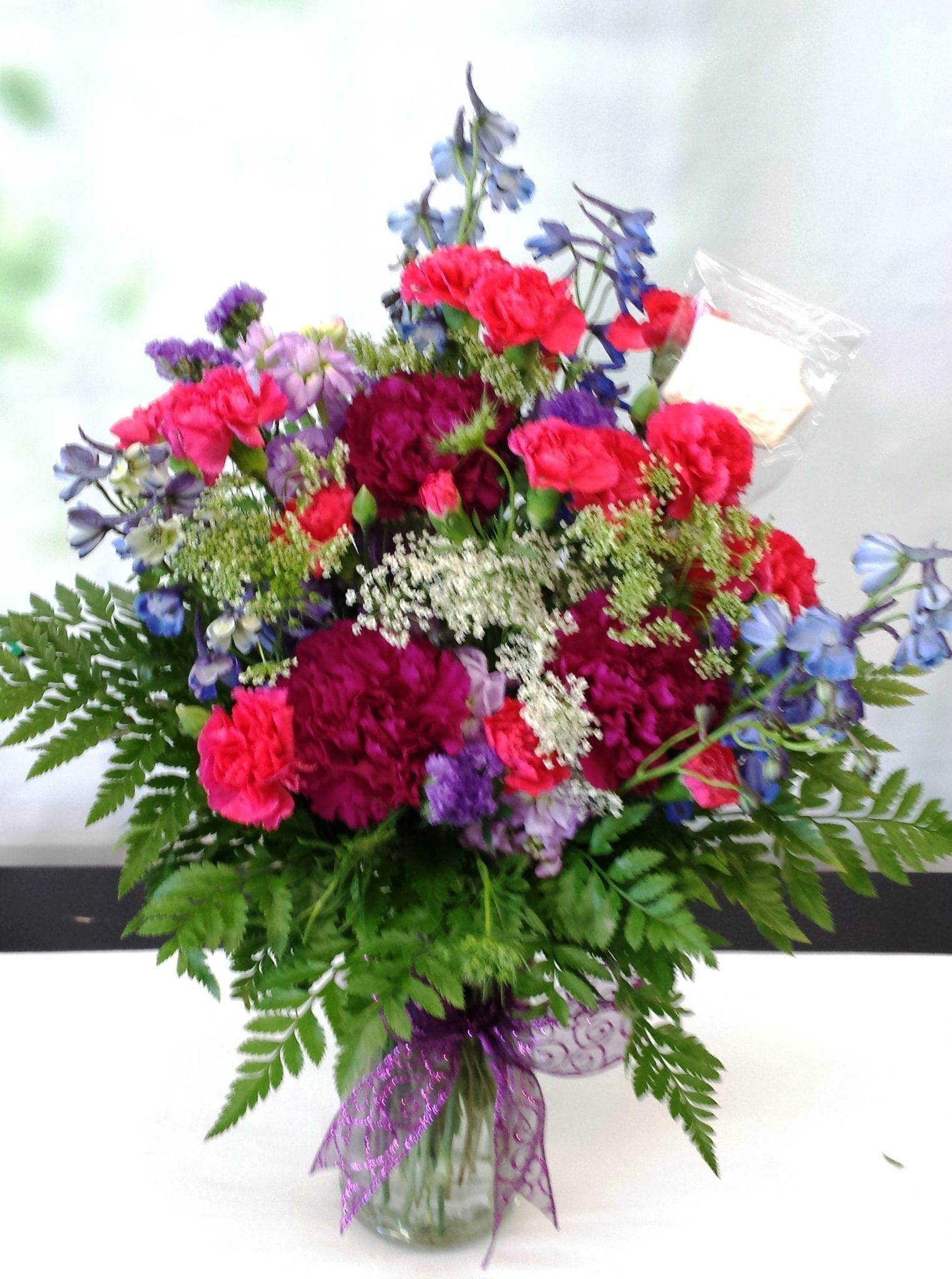 SAME DAY DELIVERY Fiesta Garden Bouquet in Purple