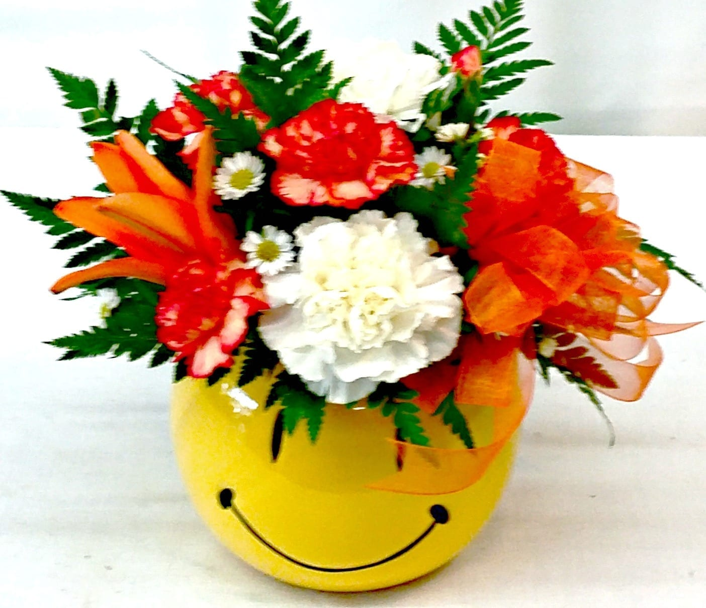 Same Day Delivery Fiesta Orange Smiley Fiesta Flowers Plants Amp Gifts