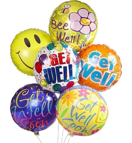 Get Well Smile Balloon Bouquet