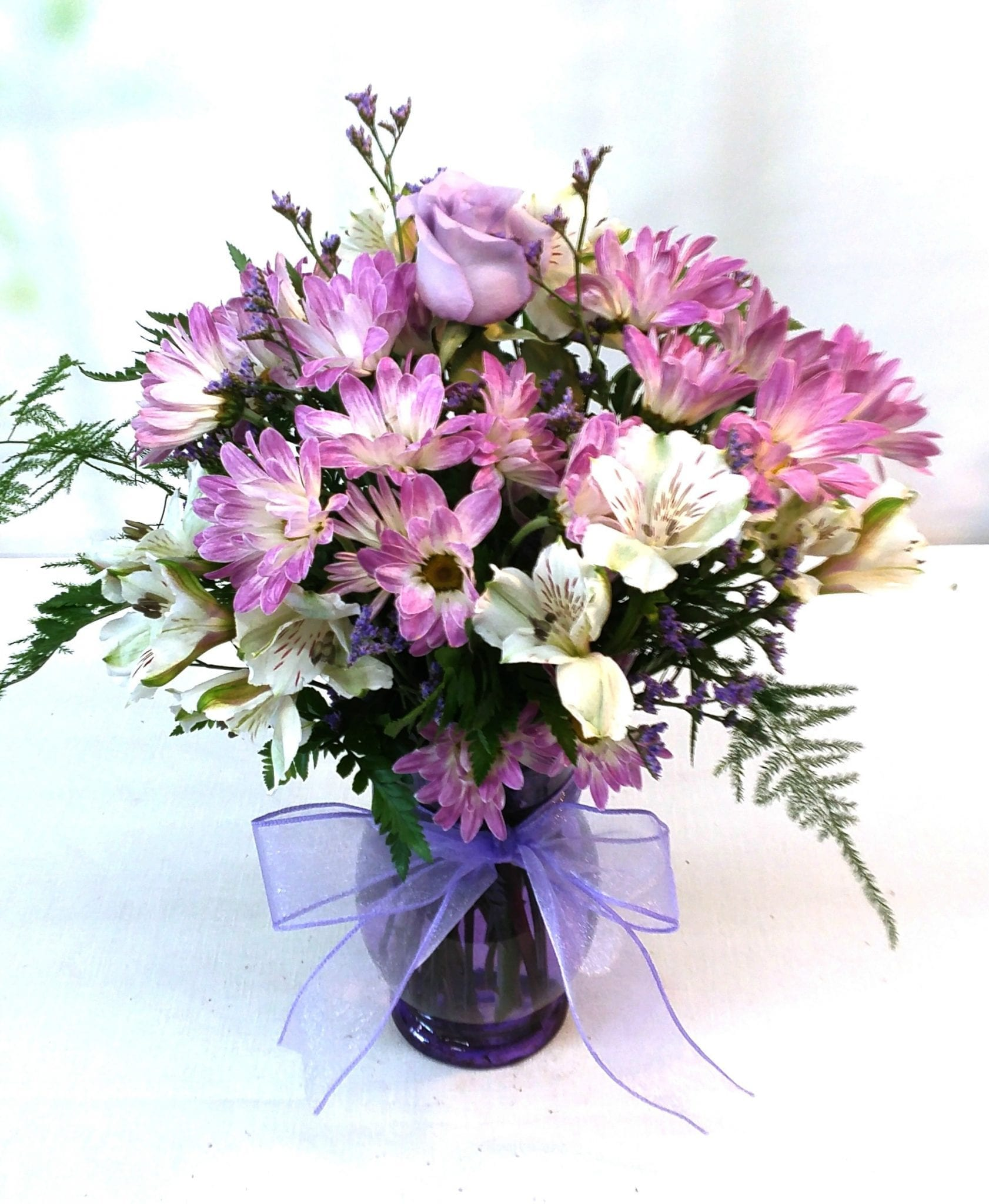 Lavender Daisy Fantasy Same Day Delivery Fiesta Flowers Plants & Gifts