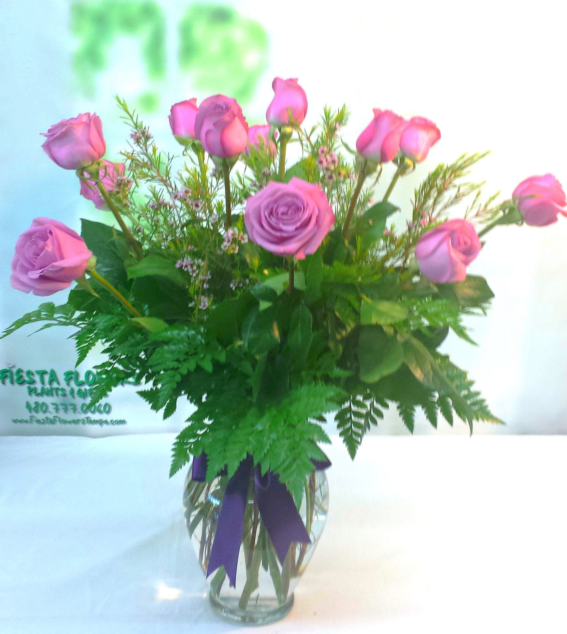 SAME DAY DELIVERY Lavender Short Stem Roses