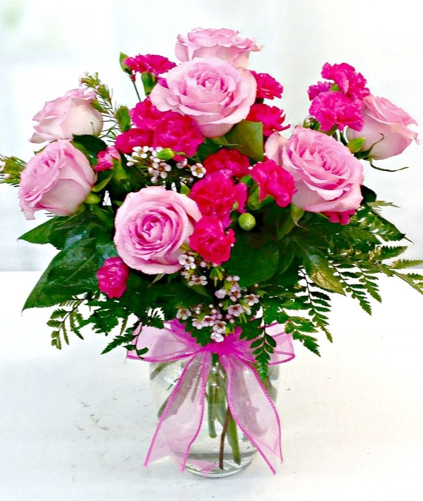 Same Day Delivery Lovely In Pink Bouquet Fiesta