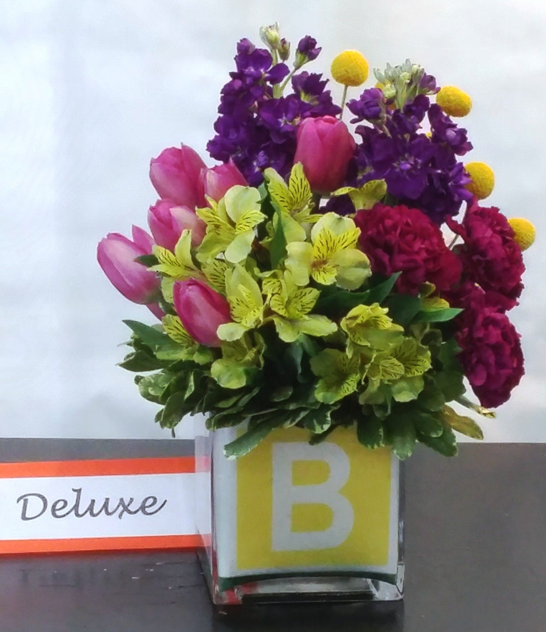 SAME DAY DELIVERY New Baby Congratulations Cube Fiesta Flowers Plants &