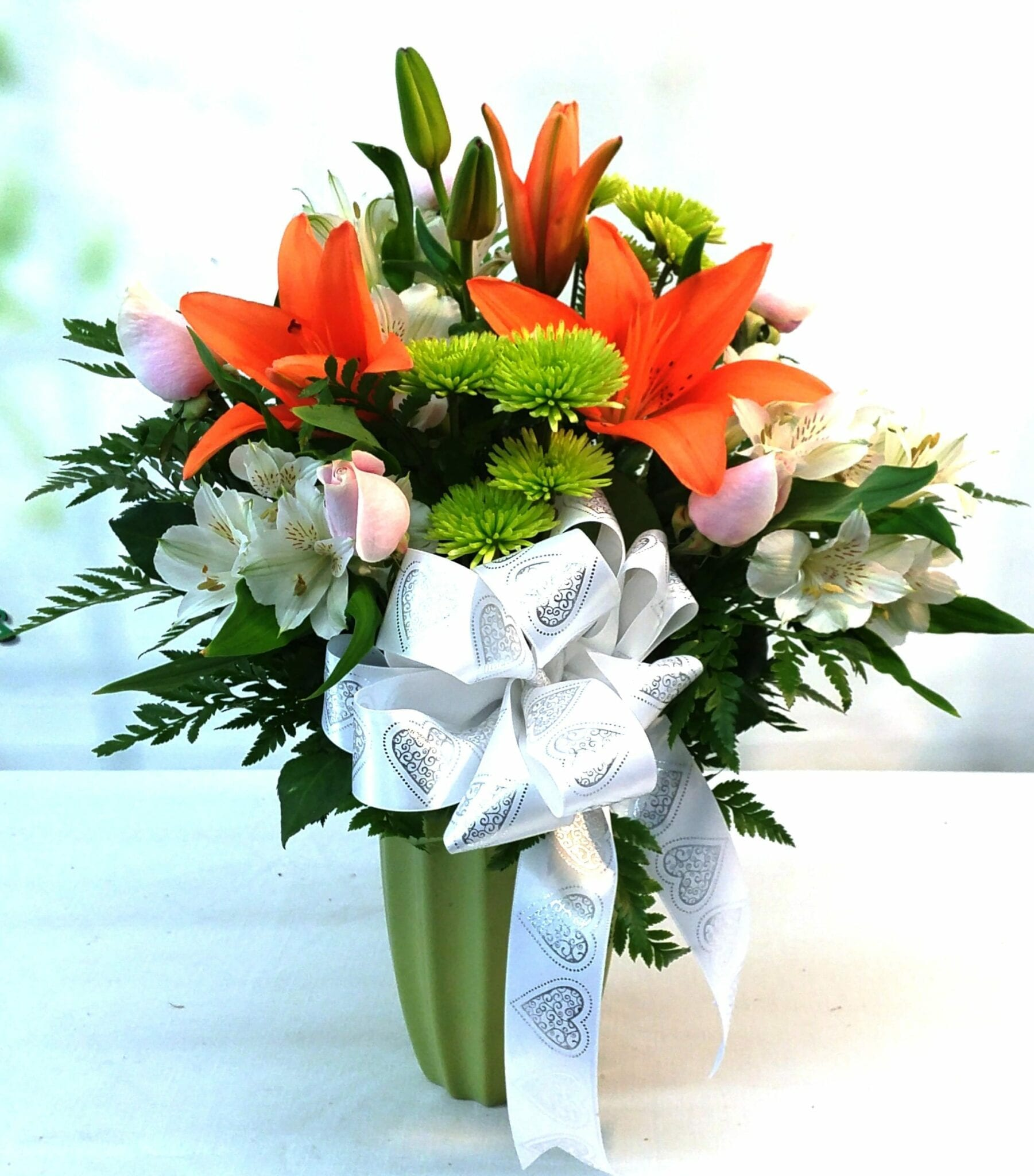 SAME DAY DELIVERY Orange Luster Bouquet