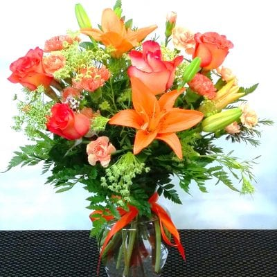 SAME DAY DELIVERY Orange Spectacular Bouquet