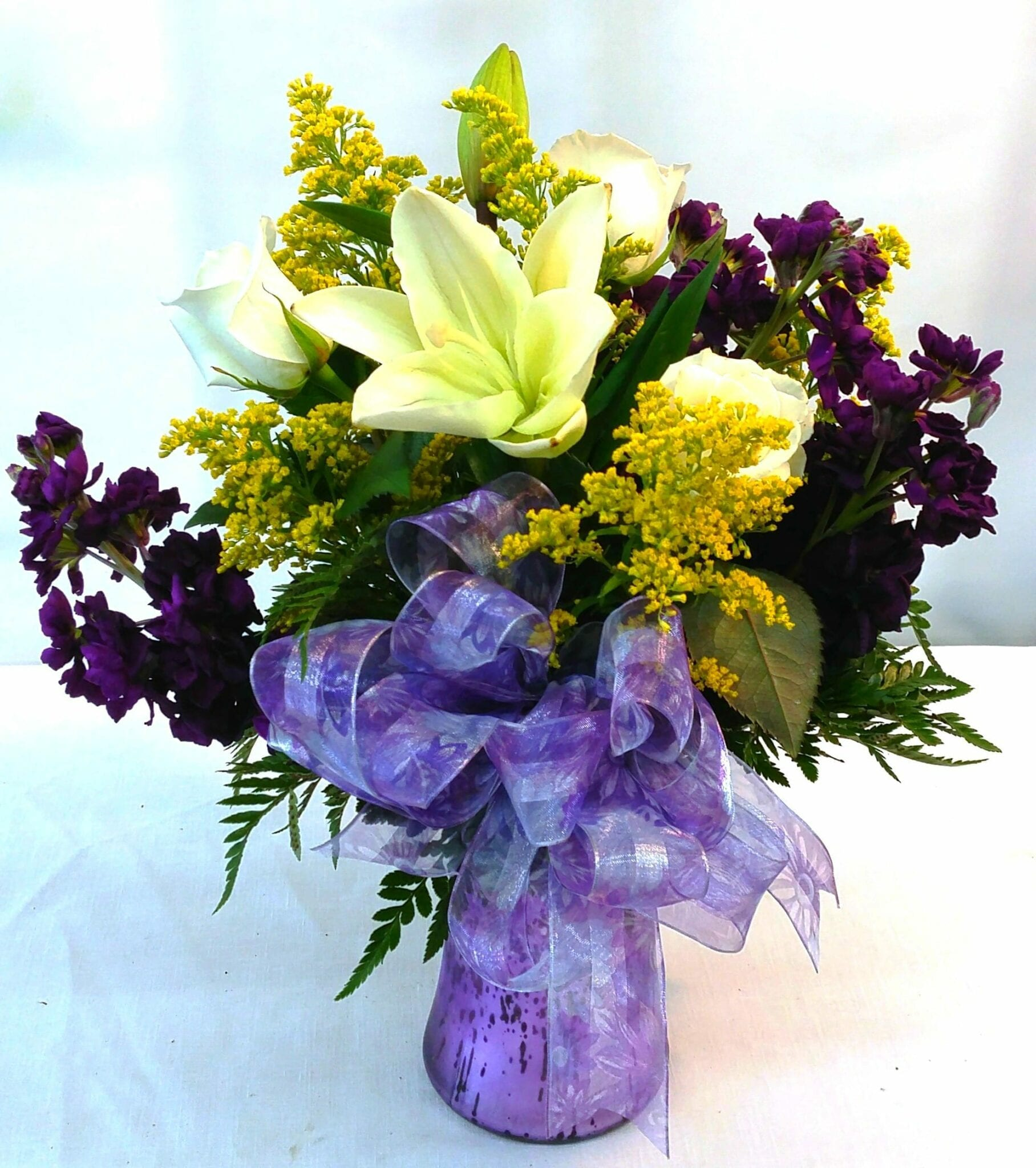 SAME DAY DELIVERY Purple Fantasy Bouquet