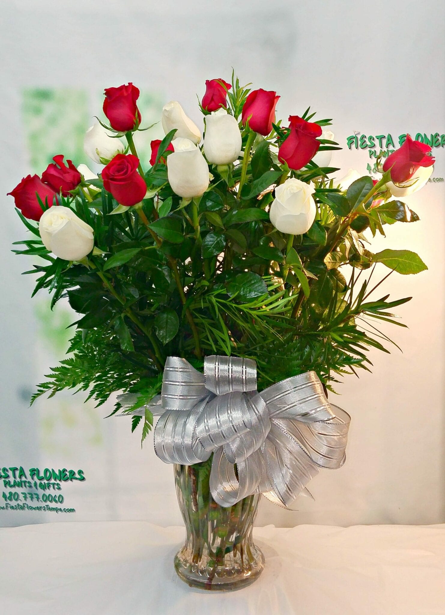 Red and White Luxury Two Dozen