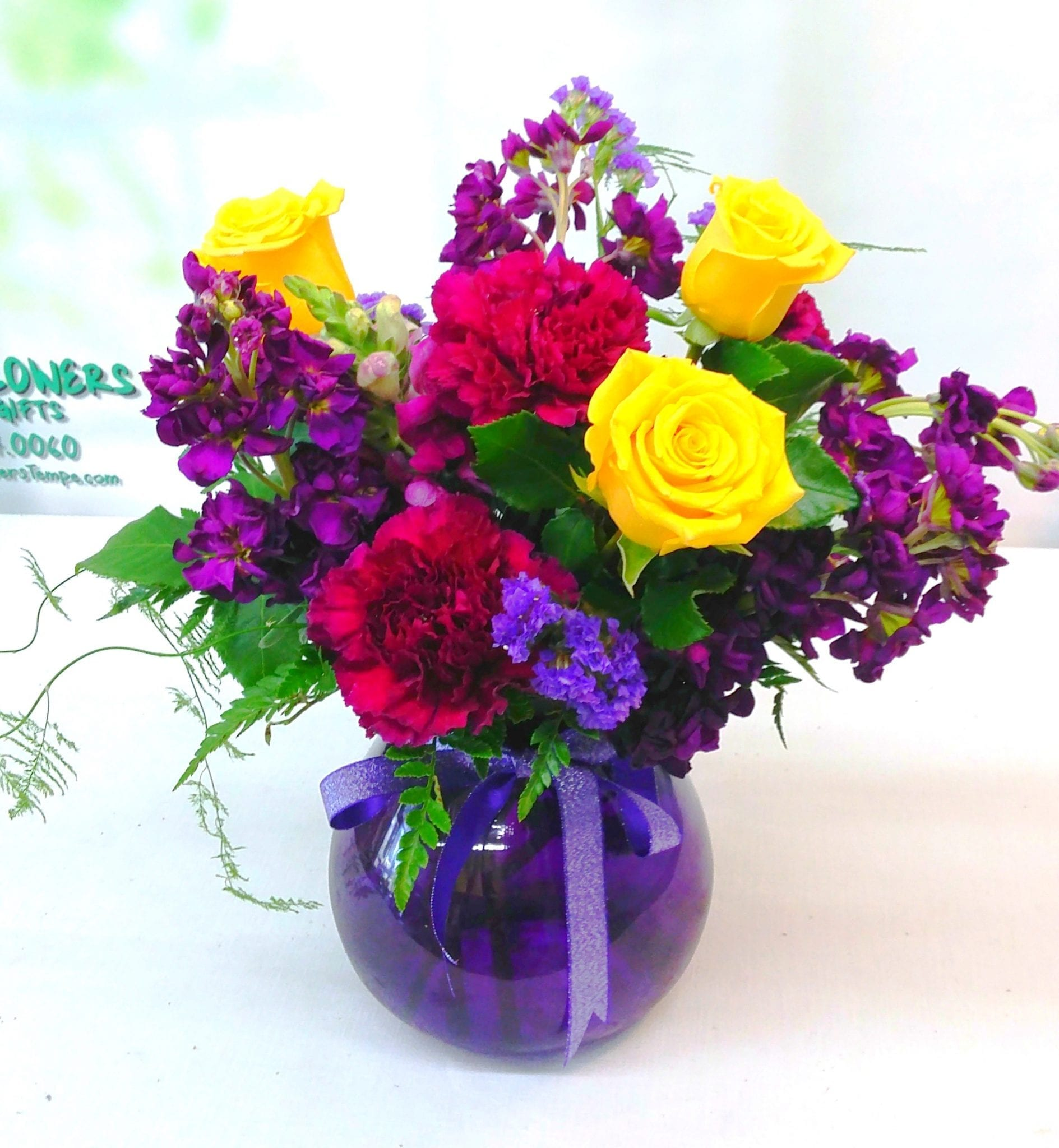 Shades of Purple in a Vase