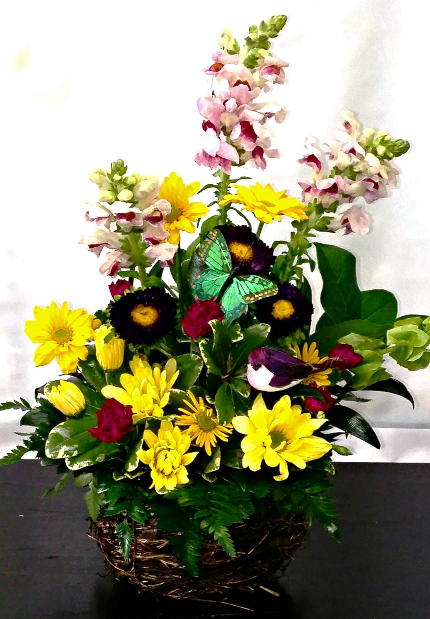 Springtime Basket in Yellow (N-5003)