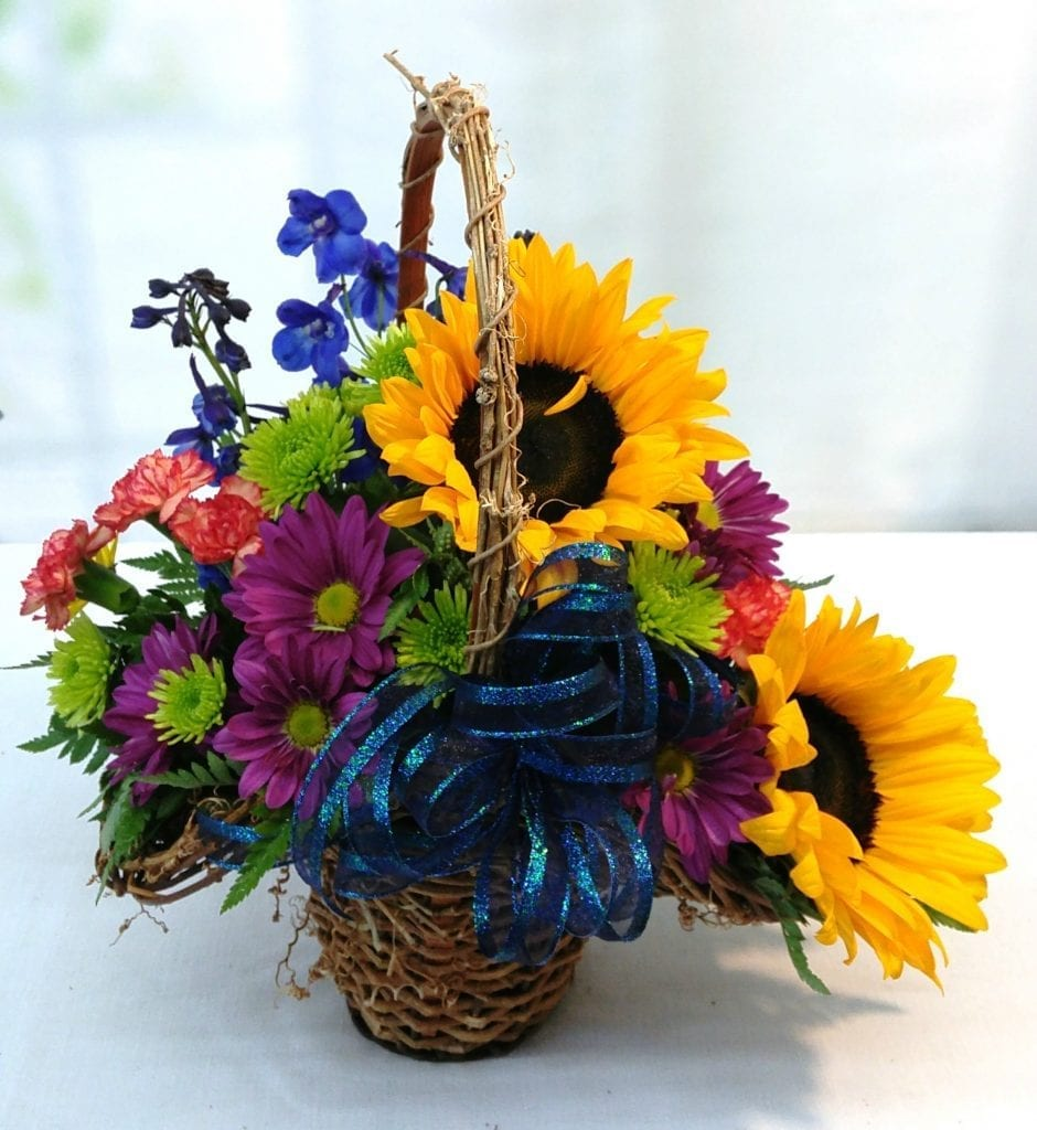 Sunflower Basket Same Day Delivery Fiesta Flowers