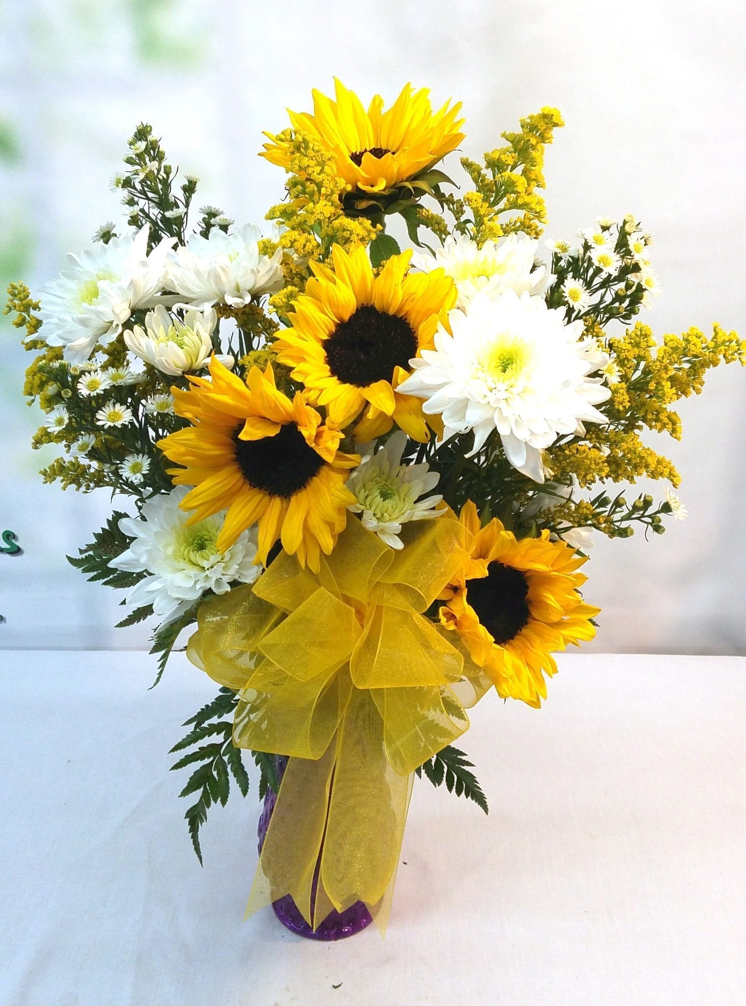 SAME DAY DELIVERY Sunflower Burst Bouquet (V-1126)