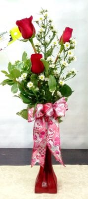 SAME DAY DELIVERY Three Rose Trio