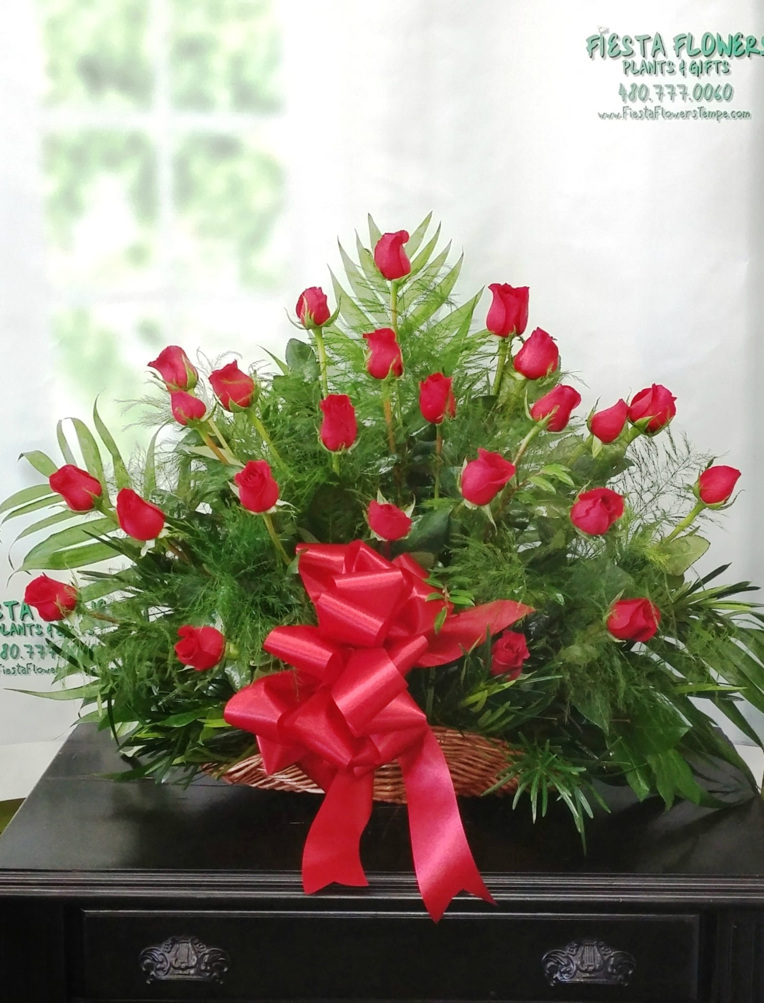 SAME DAY DELIVERY Tribute in Red Fiesta Flowers Plants & Gifts